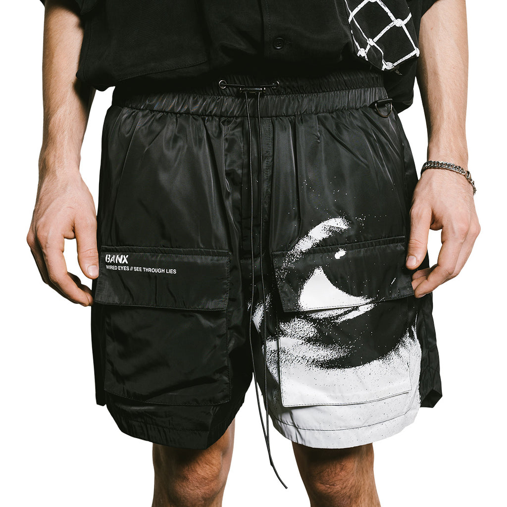 WIRED EYES Utility Shorts - MATTE BLACK
