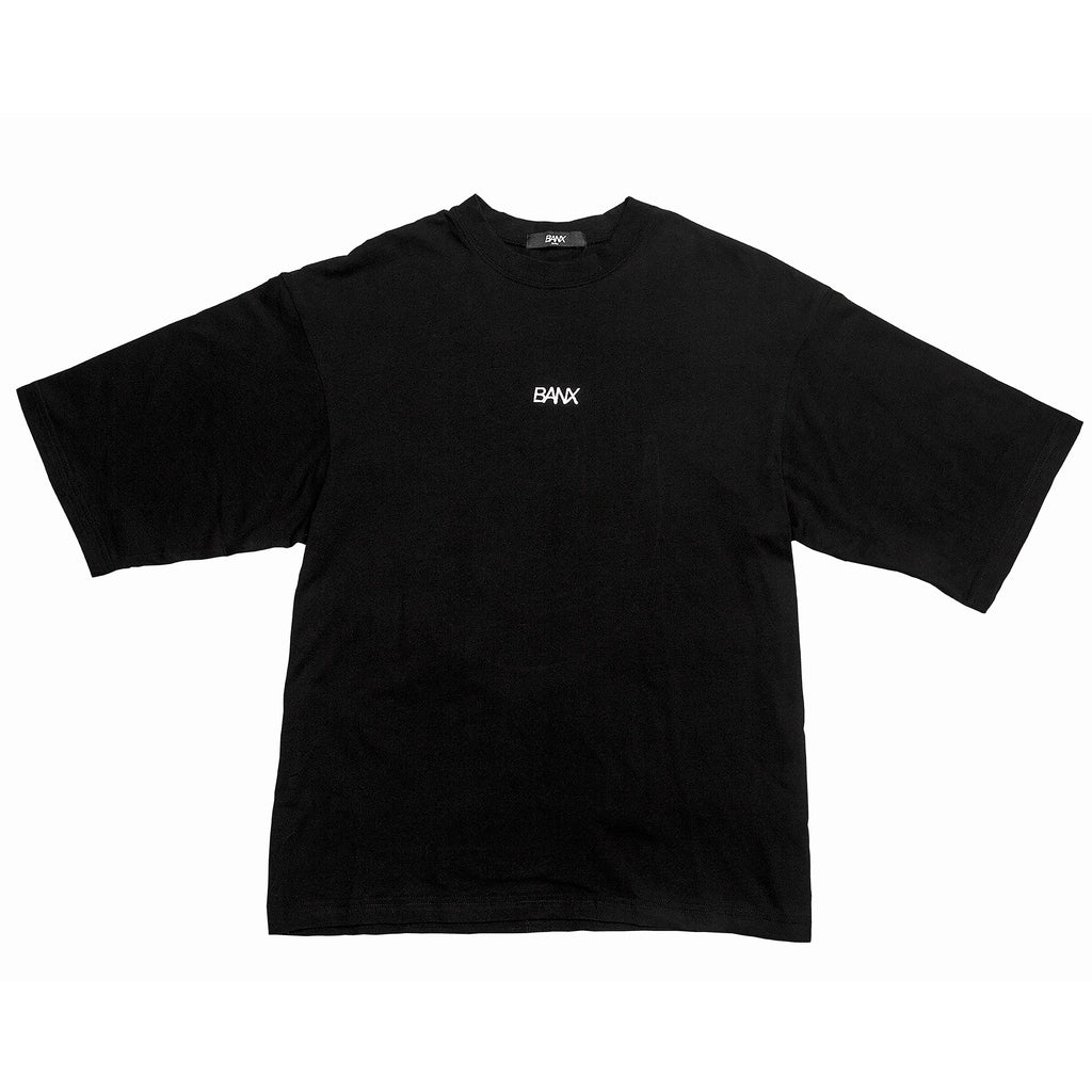 OVERSIZED B TEE - BLACK (WHITE TEXT)