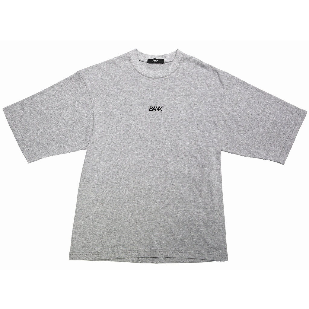 OVERSIZED B TEE - HEATHER GREY