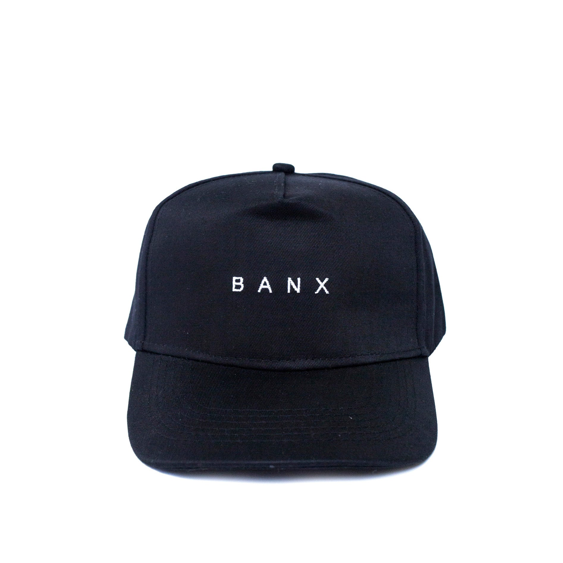A-FRAME CAP - BLACK (WHITE TEXT)