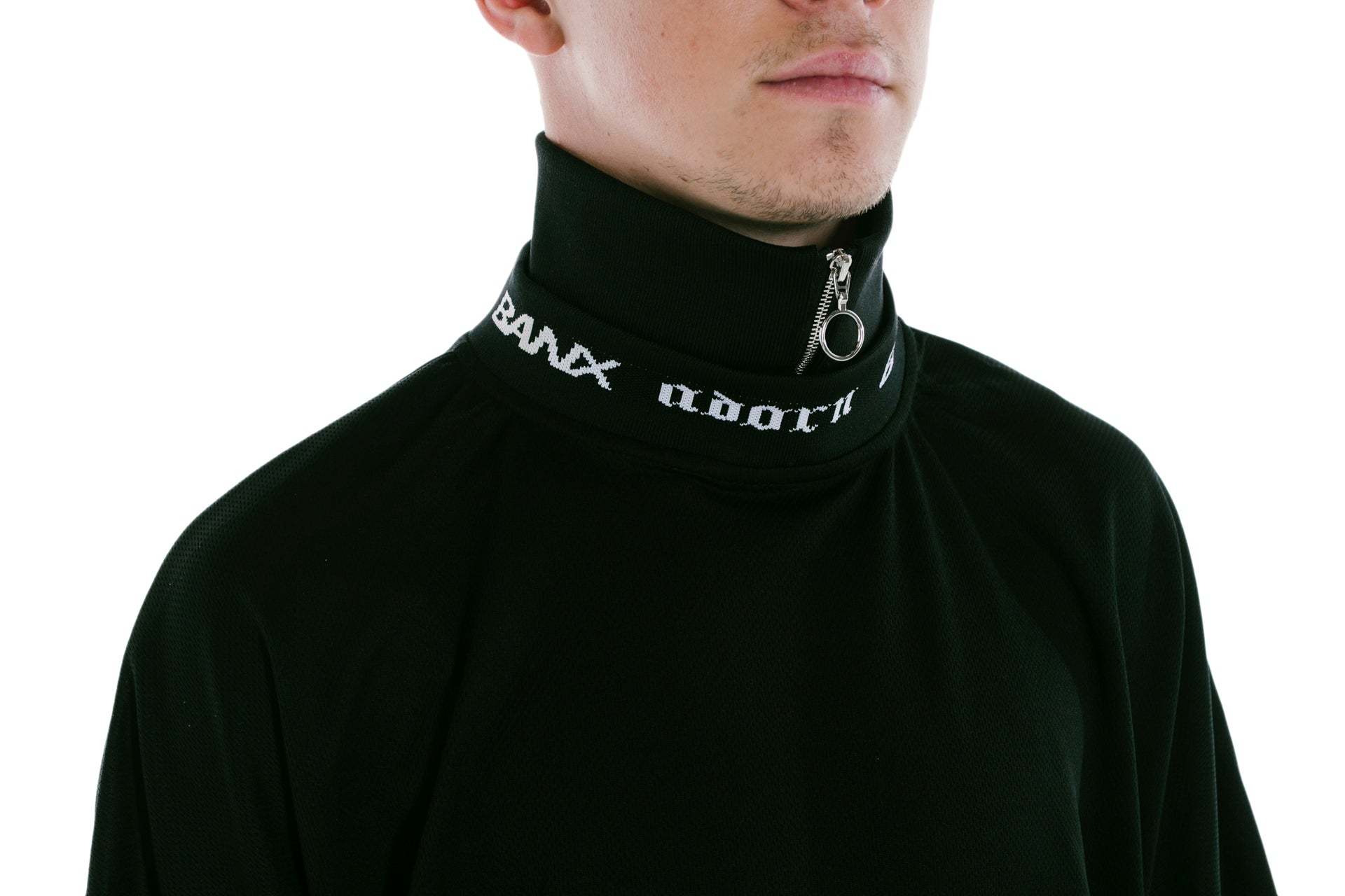 ADORN X BANX SHIRT BLACK - WITH COLLAR