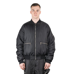 CHARGED ATB-1 Reversible Bomber Jacket - Black (White Print)
