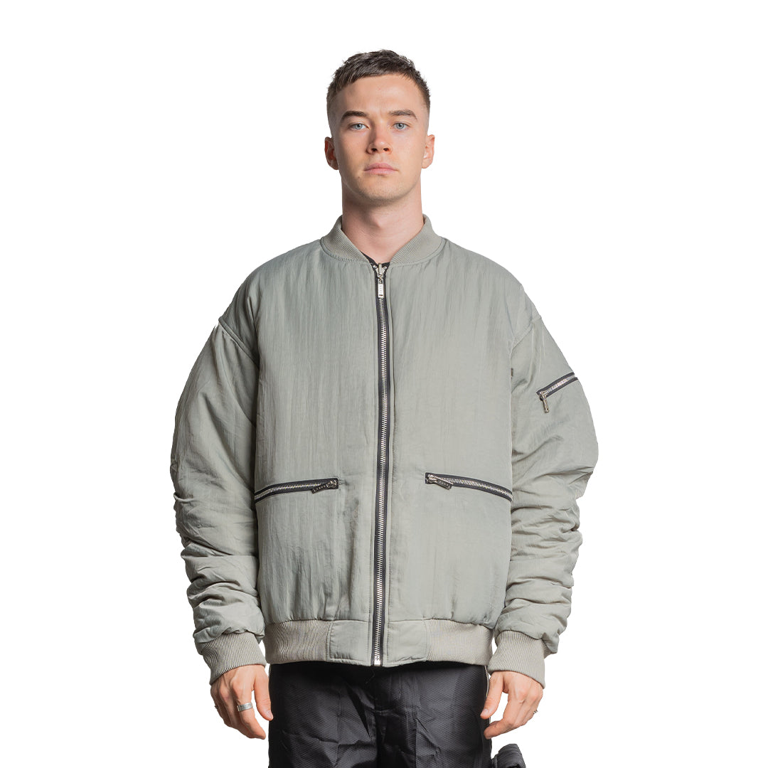 CHARGED ATB-1 Reversible Bomber Jacket - Seagrass