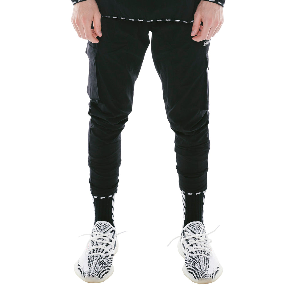 TRACKPANTS - BLACK (REVERSIBLE)