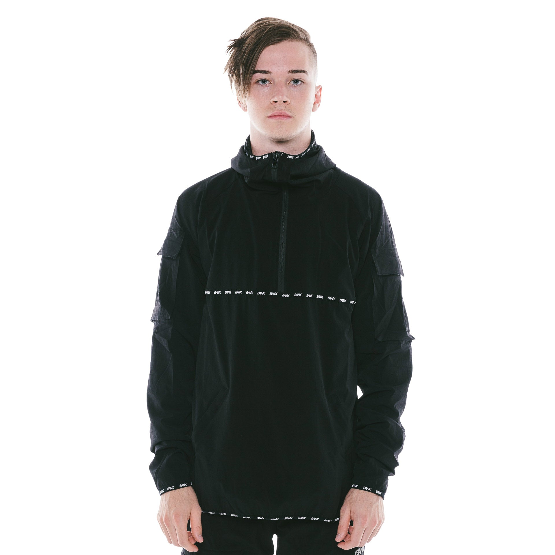 TRACKJACKET - BLACK (REVERSIBLE)