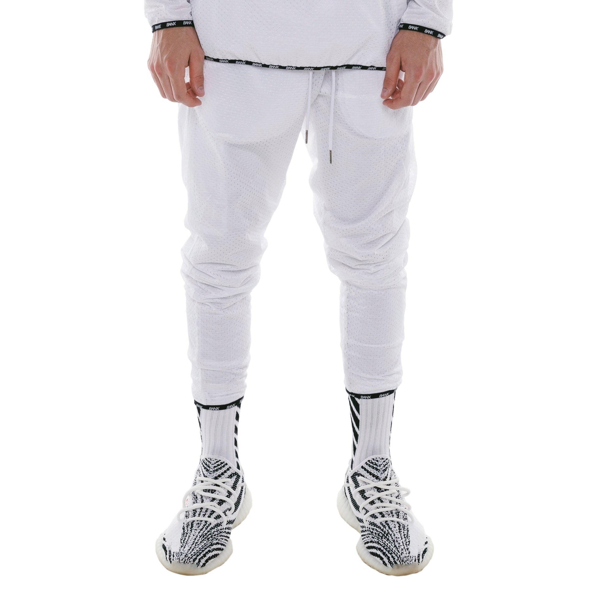 TRACKPANTS - WHITE (REVERSIBLE)