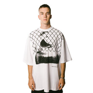 WIRED EYES Oversized Shirt - WHITE