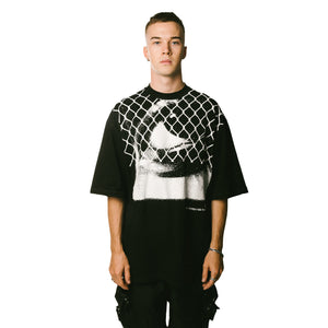 WIRED EYES Oversized Shirt - BLACK