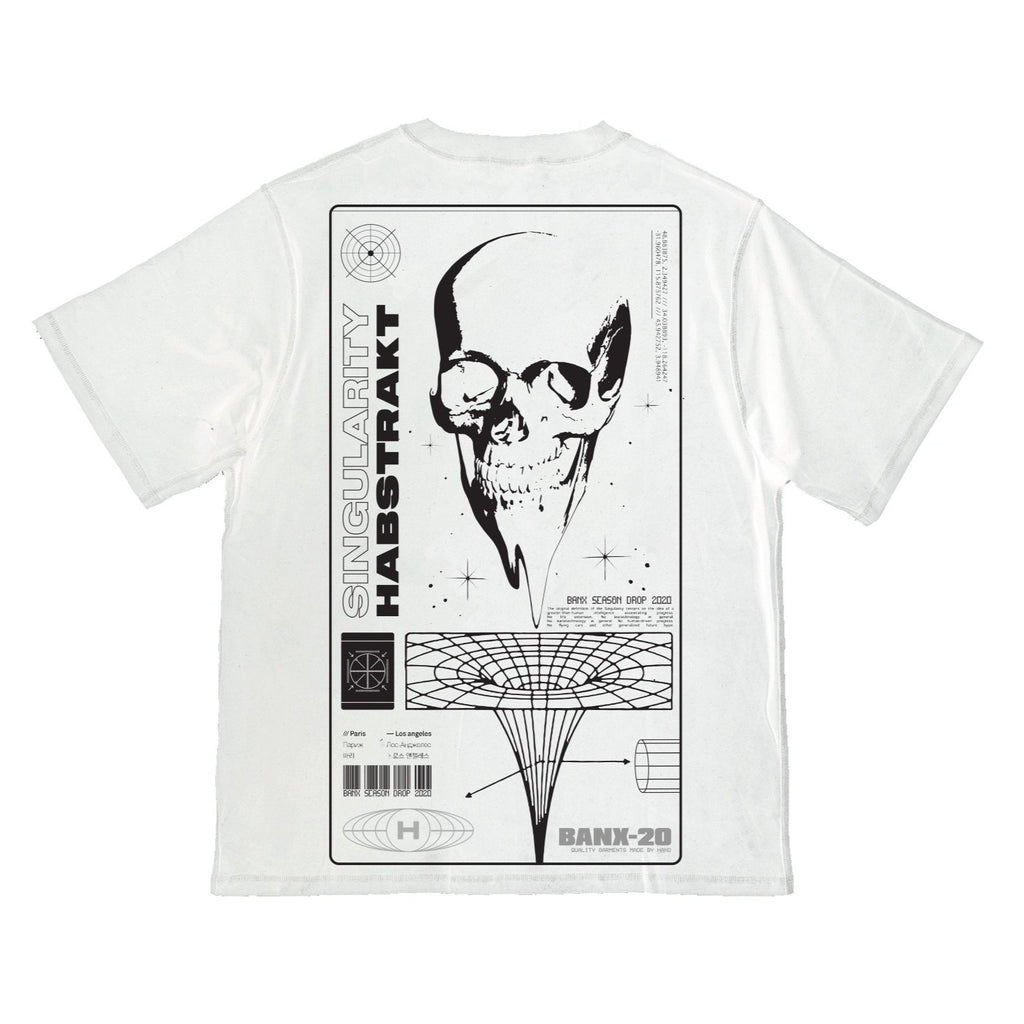 BANX x HABSTRAKT SINGULARITY Oversized Shirt - OFF WHITE