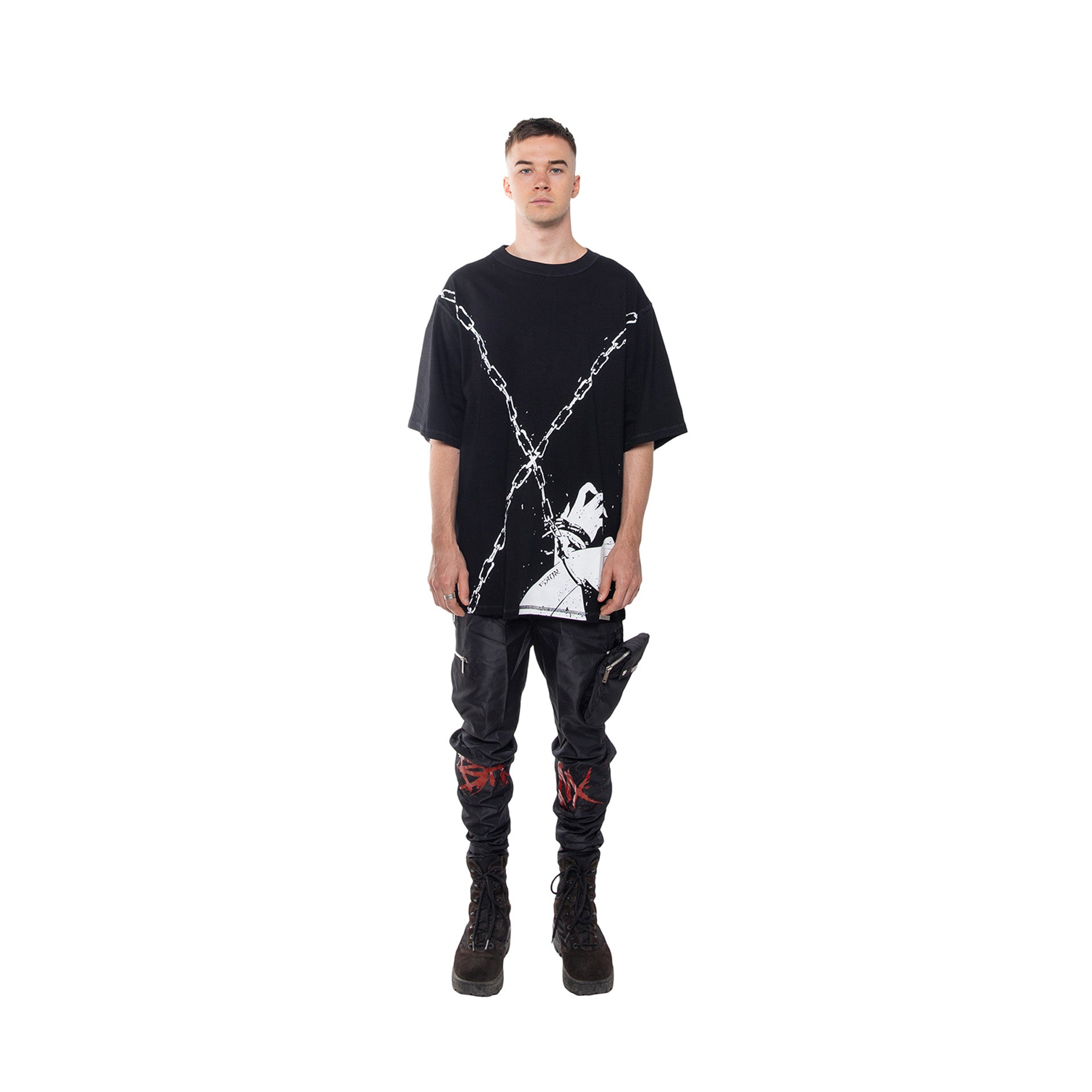 """SEVEN YEARS OF THE VISION"" Oversized Shirt - BLACK"