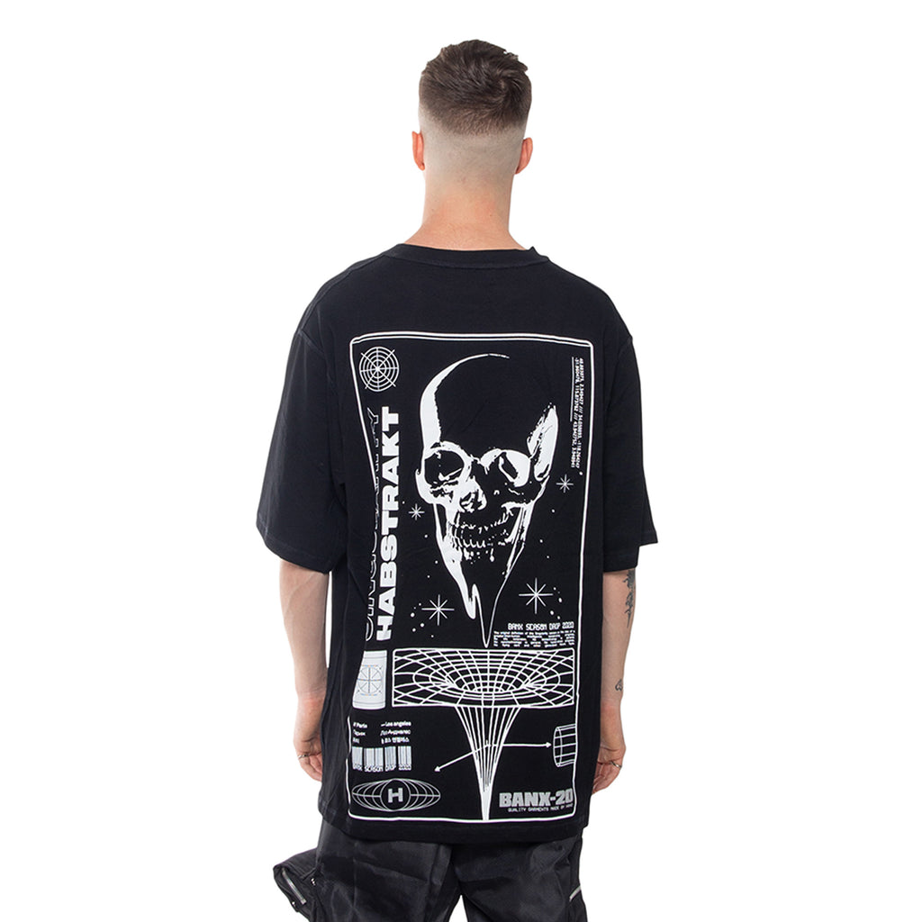 BANX x HABSTRAKT SINGULARITY Oversized Shirt - BLACK