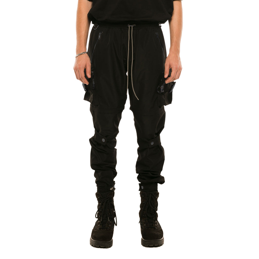 R-S UTILITY CARGO PANTS/SHORTS - BLACK