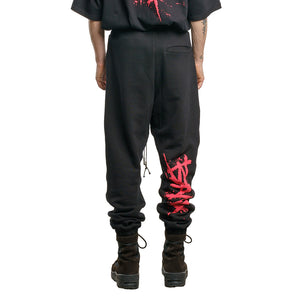 CHARGED Jogger - Black (Red Print)