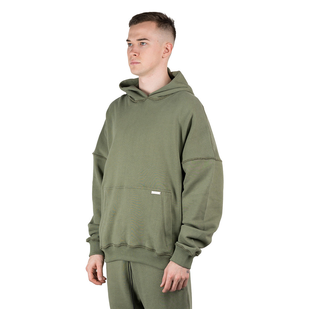 CHARGED Oversized Hoodie - Moss Green