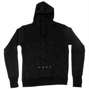 STEALTH HOODIE - BLACK (WHITE TEXT)
