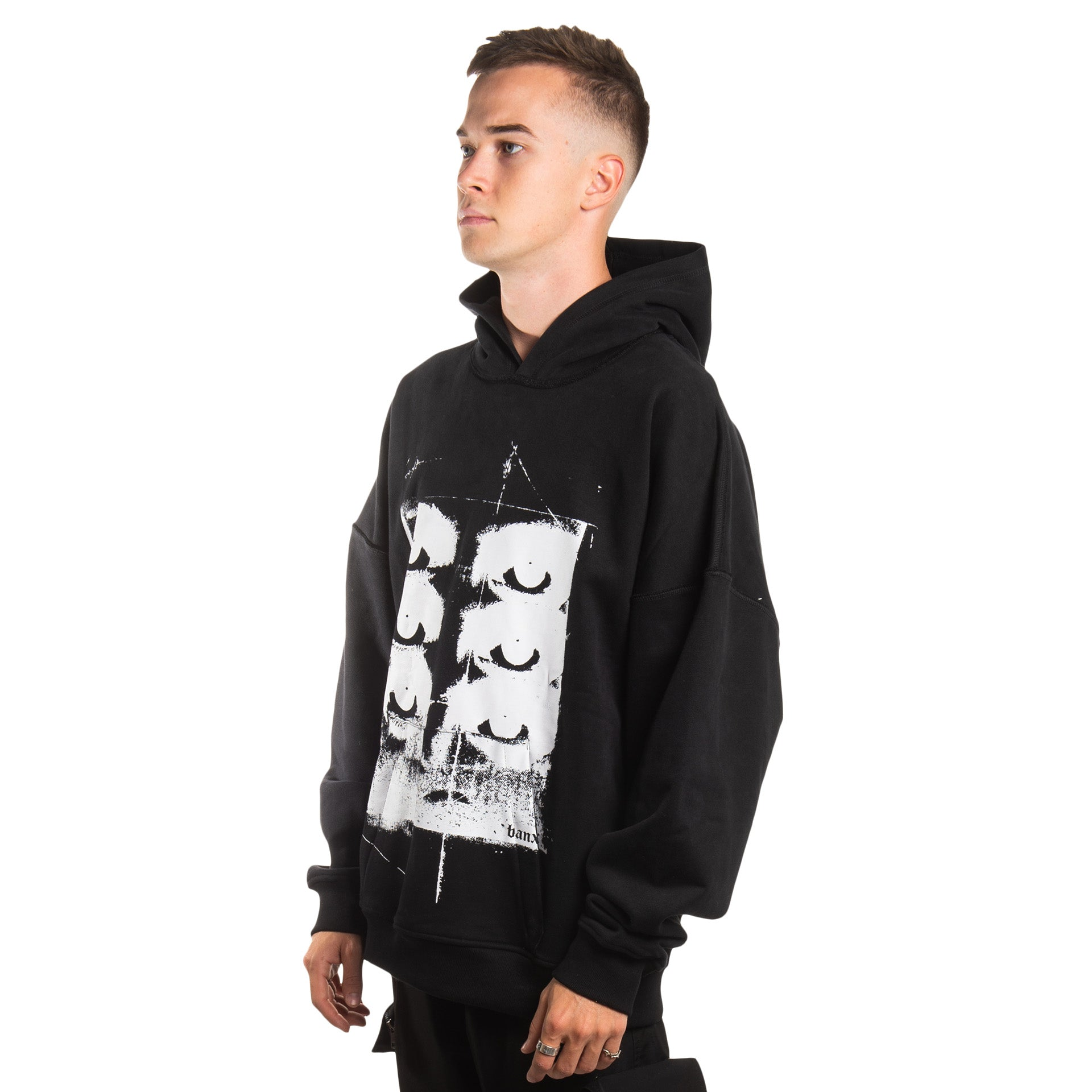 """SIX YEARS OF THE VISION"" Oversized Hoodie - BLACK"
