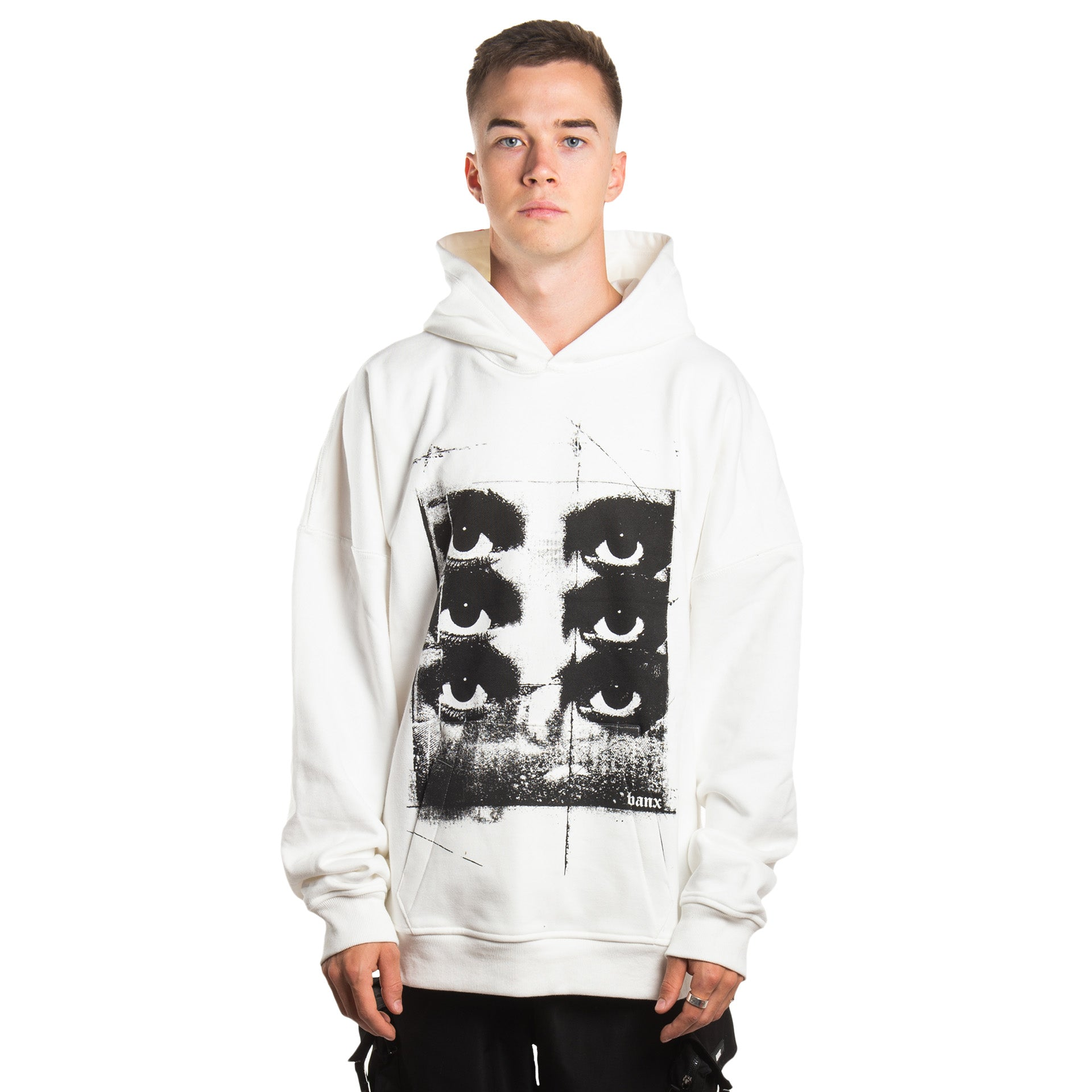 """SIX YEARS OF THE VISION"" Oversized Hoodie - WHITE"