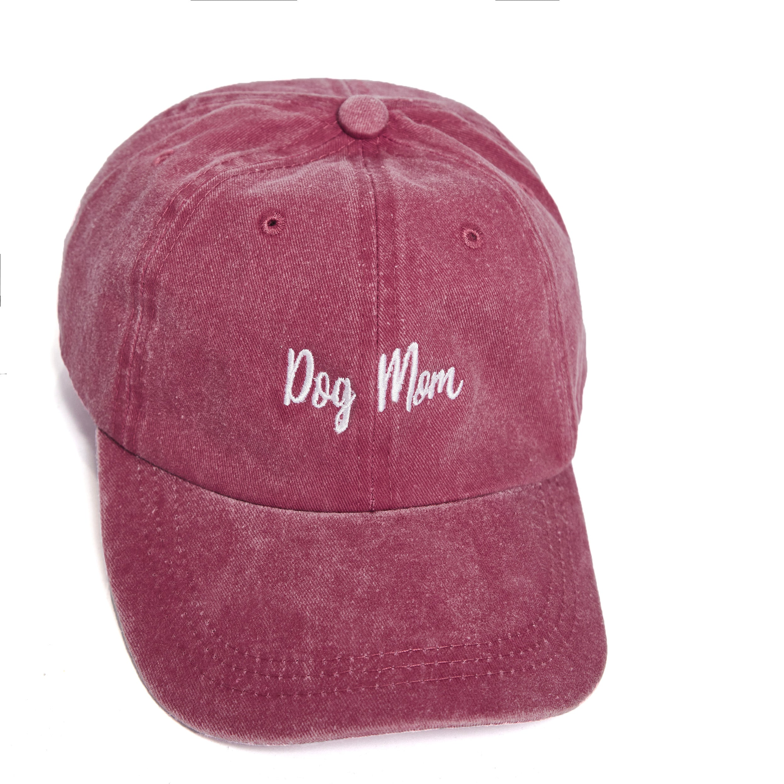 Dog Mom Pigment Washed Cotton Baseball Cap