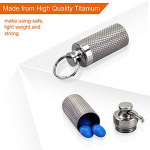 Portable Titanium Waterproof Pill Box