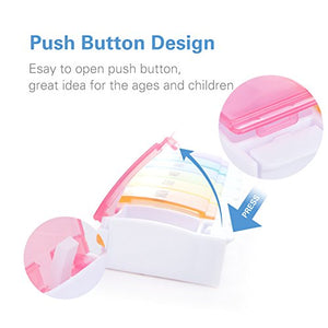 Weekly Pill Box with Push Open Button
