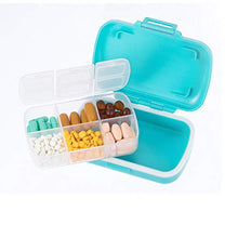 Weekly Pill Organizer,Moisture Proof Pill Box Case for Travel 7 Days,BPA-Free and Food-Grade To Hold Vitamins, Fish Oil, Supplements and Medication(Set Of 2): Health & Personal Care