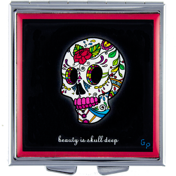Skull Deep (Red )- Got Pills? Personal Pill Box