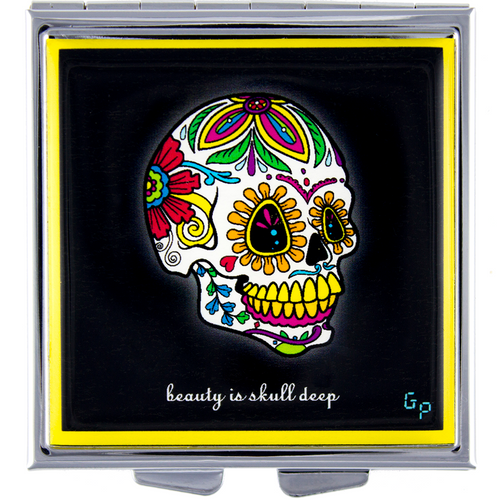 Skull Deep (Yellow)- Got Pills? Personal Pillbox
