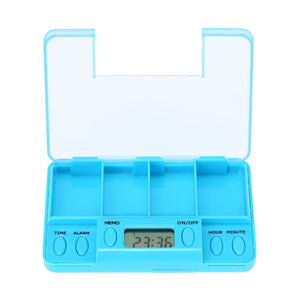 Multi-Alarm Timer Smart Pills Reminder Box Plastic Medicine Box Tablet 4 Clock Alarm for Old People and Patient
