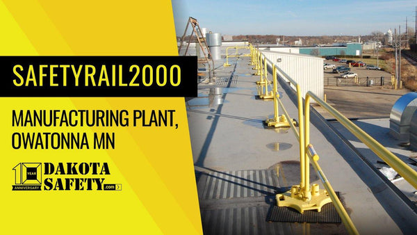 Manufacturing Plant Fall Protection Guardrail - Dakota Safety