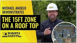 "The ""15ft"" zone on a roof top image - Dakota Safety"