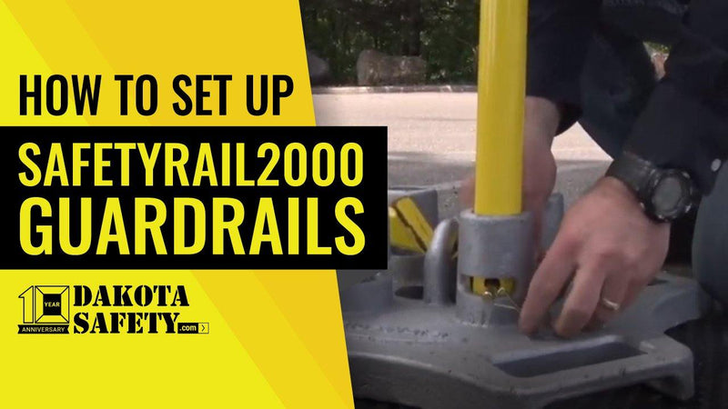 How To Set up the SafetyRail2000 Non-Penetrating Fall Protection Guardrail System - Dakota Safety