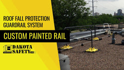 Roof Fall Protection Guardrail System - Custom Painted Rail - Dakota Safety