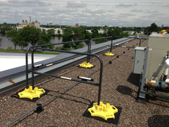 Guard Rail for fall protection with custom color rail sections