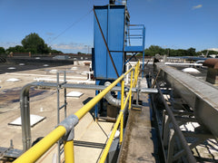 roof guardrail for fall protection fixed