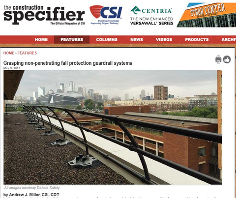 guard rail fall protection article