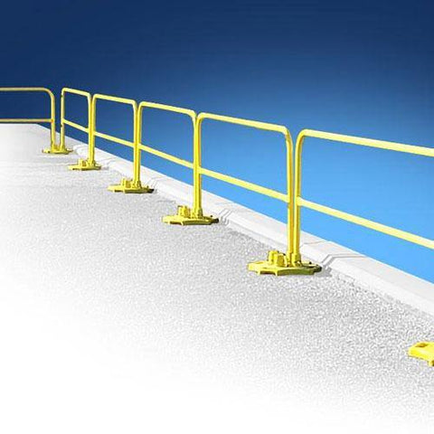 Non-Penetrating Roof Fall Protection Guardrail
