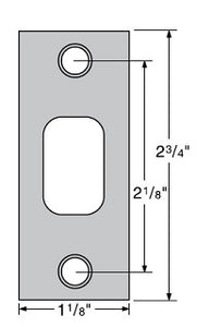 Commercial Deadbolt Strike Plate Specifications