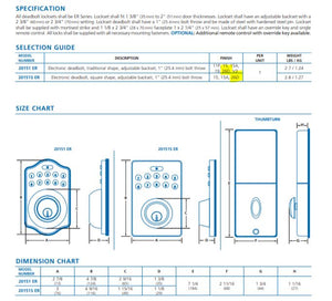 ER series Electronic Programmable Keypad Deadbolt Lock for Residential or Commercial Applications.