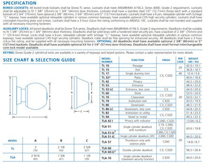 Keyed Deadbolt Lock Specs