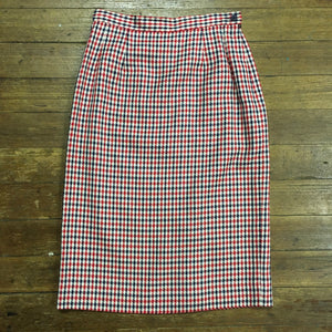 Classic Red, White, and Blue Pendleton Pencil Skirt
