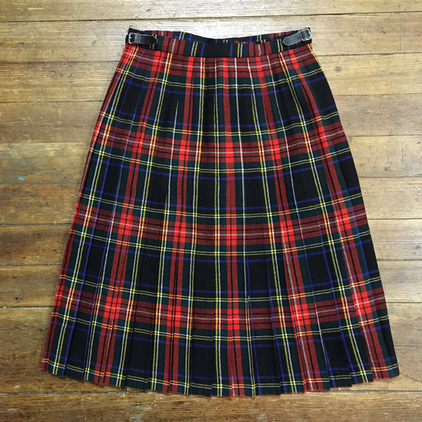 Classic Wool Kilt with Leather Buckle