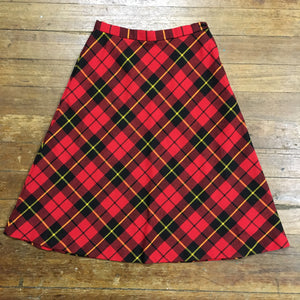 Timeless Staple Red Plaid Skirt