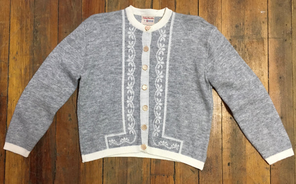 1960s Smart Grey Cardigan with Great Details