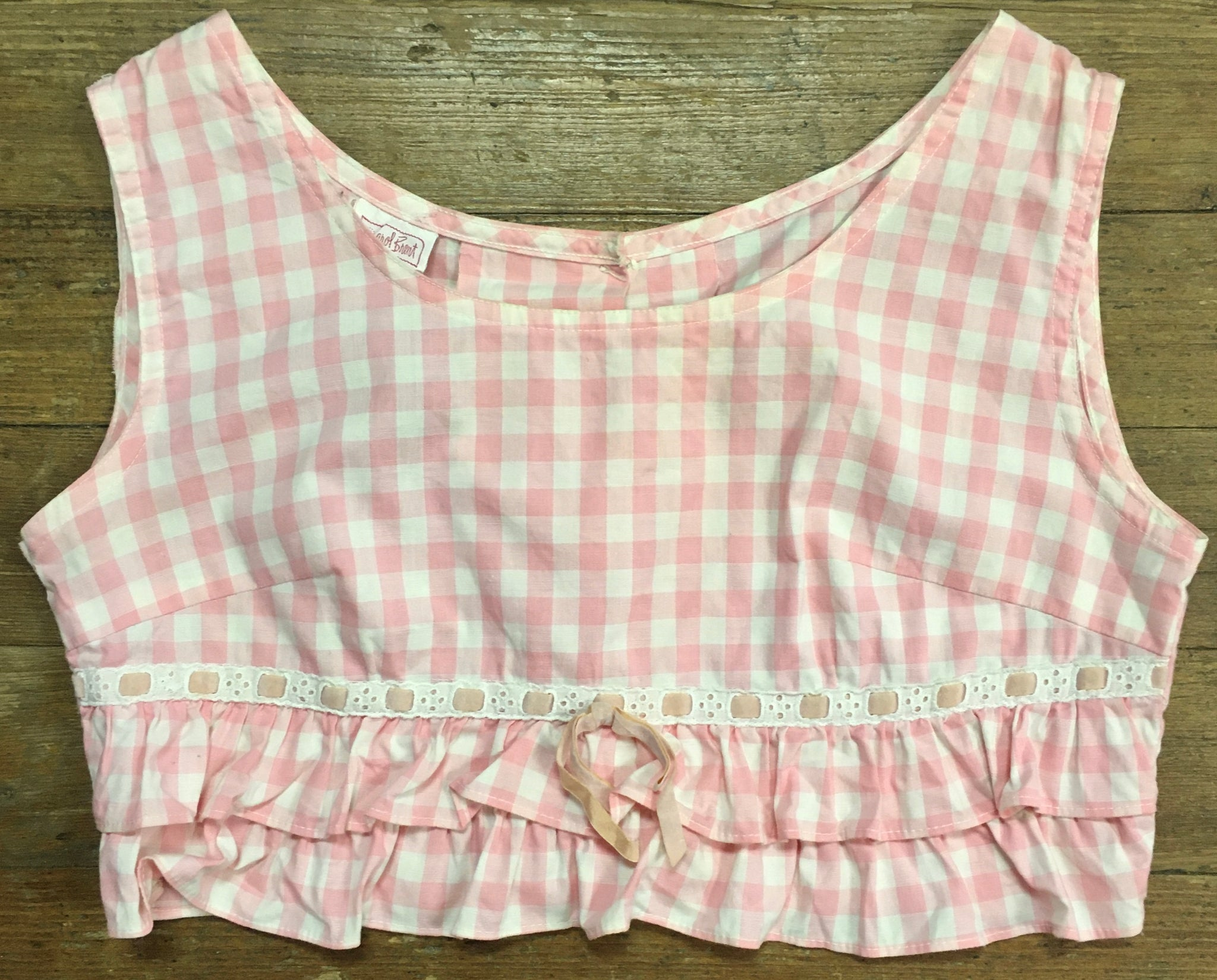 Clam Bake! Killer 50's-60's Gingham Crop Top