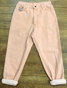 On trend 80s Peach High Rise Wranglers