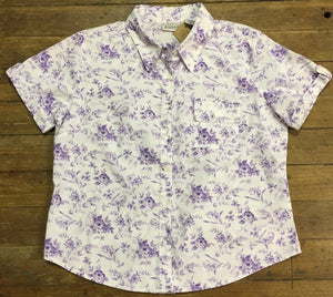 Sweet 90s Basic Editions Lavender Floral Blouse