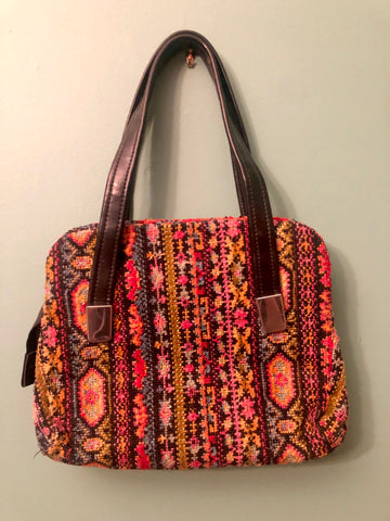 Groovy 60s Bright Colors Tapestry Bag