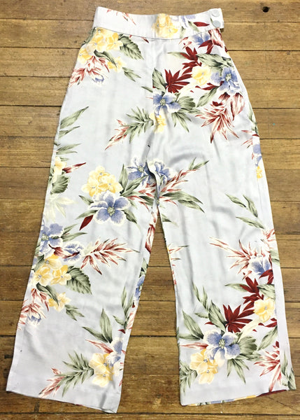 1990s Tropical Floral Pants