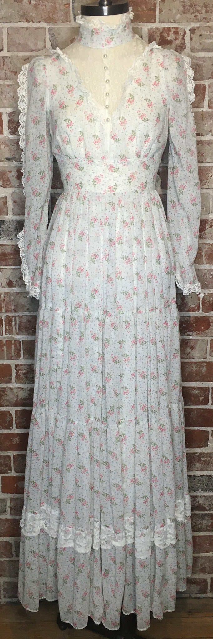 Rare Sheer Ethereal Boho Hippie Gunne Sax Dress