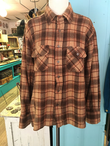 Earth-toned Wool Blend Flannel